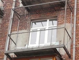 Балкон с выносом по полу Киев